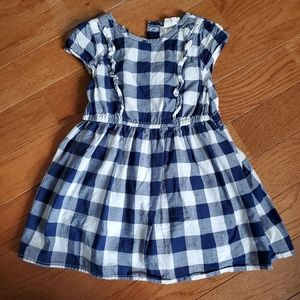 Crazy 8. 2T. Blue plaid dress
